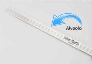 Cuchillo de corte de jamón con alveolos