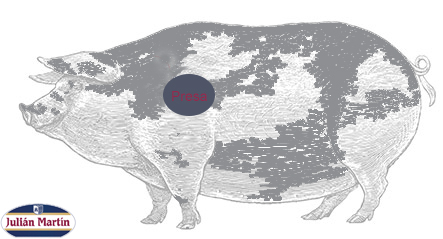 Parte del cerdo donde se encuentra la presa ibérica